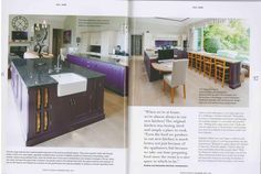 This bold and beautiful purple kitchen which was featured in Utopia magazine had not one but two of our Gosford taps. A stunning kitchen installation by Heaven and Stubbs. Purple Kitchen, Kitchen Installation, Taps, Heaven, Magazine, Inspiration, Beautiful, Home Decor, Biblical Inspiration