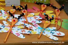KITA - IDEENKISTE! Nicht nur für ErzieherInnen!: Kleine Frühlingsboten aus Holzkochlöffel