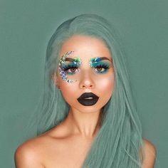 Alien Makeup, Movie Makeup, Eye Makeup Art, Fairy Makeup, Mermaid Makeup, Fairy Fantasy Makeup, Fairy Costume Makeup, Witchy Makeup, Siren Costume