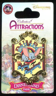 DLP DLRP Paris Attraction Series Dumbo the Flying Elephant Disney Pin 94578