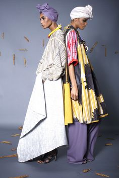 """Look 1. Look 2. """"M'ba M'etta"""" Collection by #NyorhAgwe #africandesigner #africa #fashion"""