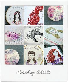 2012 Stitch Collage by Gracie's Garden Bazaar, via Flickr