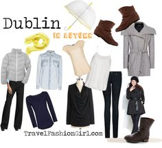 Are you wondering what to wear in Ireland? Use these packing list ideas for Dublin as a starting point for your trip! Ireland Vacation, Ireland Travel, Dublin Travel, Scotland Travel, Dublin Ireland, London Travel, Travel Wardrobe, Capsule Wardrobe, Wardrobe Ideas