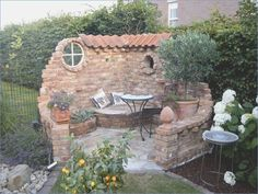 Make a water feature instead of seat - DIY Garten Landschaftsbau Outdoor Projects, Garden Projects, Backyard Patio, Backyard Landscaping, Landscaping Ideas, Luxury Landscaping, Outdoor Living, Outdoor Decor, Outdoor Rooms