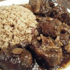 Yummy oxtails my whole family loves this dish i can remember growing up in the country and having oxtails on saturday evenings for dinner oh how i miss those days! The post Yummy oxtails & like places to go appeared first on Oxtail recipes . Oxtail Recipes Crockpot, Meat Recipes, Cooking Recipes, Curry Recipes, Recipies, Savoury Recipes, Fun Recipes, Jamaican Dishes, Jamaican Recipes