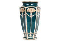 French Art Nouveau Floral Vase