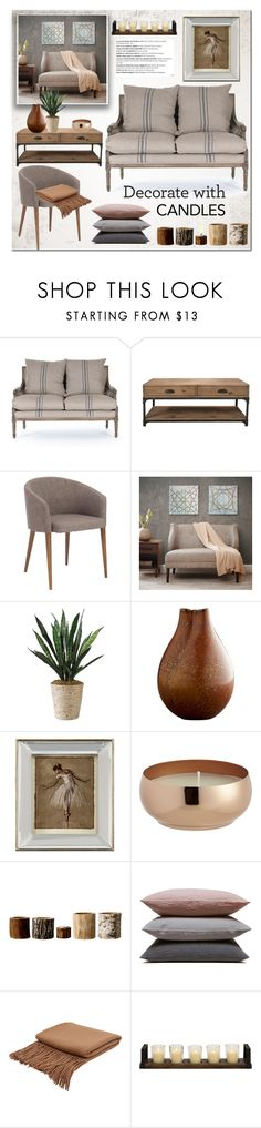"""Decorate with candles"" by bogira ❤ liked on Polyvore featuring interior, interiors, interior design, home, home decor, interior decorating, Murphy, Dot & Bo, Madison Park and John-Richard"