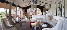 Campamento en Tanzania, Singita Mara River Tented Camp, un interiorismo de lo más cool!