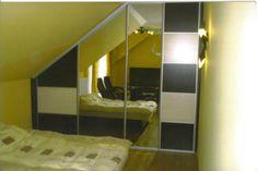 szafa przesuwna, szafa skos, szafa sypialnia, sypialnia, przedpokój, lustro