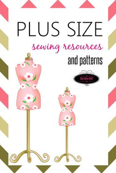 Sewing Clothes Patterns Plus size sewing resources and patterns on sewsomestuff. Sewing Hacks, Sewing Tutorials, Sewing Crafts, Sewing Tips, Sewing Ideas, Dress Tutorials, Sewing Blogs, Plus Size Sewing Patterns, Clothing Patterns
