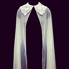 #Crochet collar cape by Ritika Arya Jain