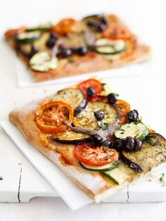 pizza met courgette,