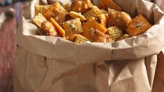 Pack up this whimsical snack mix anytime you need a cheesy snack to go; it's not just for fishing!