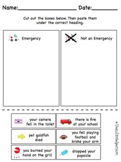 ALL ABOUT EMERGENCIES {UNIT FOR EARLY CHILDHOOD OR SPECIAL EDUCATION} - TeachersPayTeachers.com