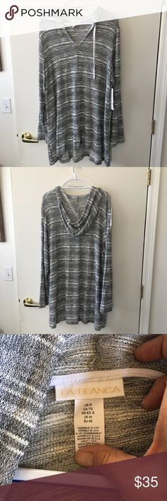 0bef1034da6e4 Shop Women s La Blanca Gray White size Coverups at a discounted price at  Poshmark. Description  NWT La Blanca Hooded swimsuit coverup size 1 x.
