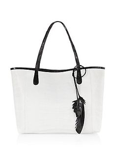 b18d83bc66ed Nancy Gonzalez Erica Crocodile Tote - White - Size No Size Linen Bag
