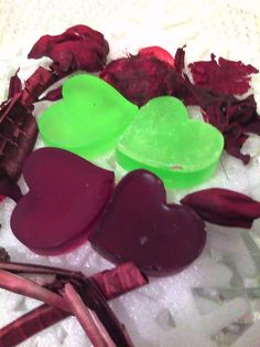 Vegan glycerin soap, made with added vit e and olive oil. Check them out at dw-animalrescue.com  or  http://www.etsy.com/listing/94897740/huge-sampler-package-low-price-glycerin?ref=pr_shop