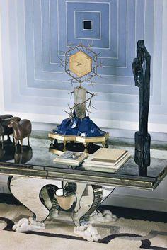 Frank Stella and Serge Roche console, designed by Delphine Krakoff
