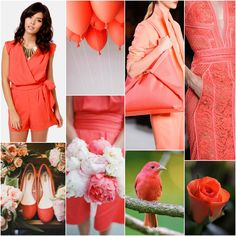 """Next to black and white, red is is my favorite colour to wear... *except* coral.  /// Polish blogger Maria analyses shades of red right for each season type: CORAL """"For Light Spring, True Spring, Soft Autumn. Perhaps for Soft Summer. """""""