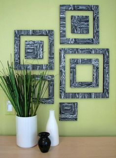 DIY Patterned Wall Squares DIY Wall Art DIY Crafts DIY Home