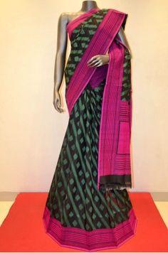 Designer Black With Green Banarasi Summer Silk                    Product Code: SSJF00837
