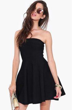 31d85476be8 online shopping for Kalin L Women s All Black Strapless Tube Top Stretchy  Skater Dress from top store. See new offer for Kalin L Women s All Black  Strapless ...