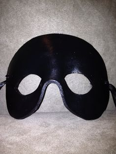 http://www.etsy.com/shop/TheDeviousFox  Leather mask, metallic black