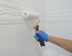 reforma de mi baño sin obras, antes y después. Renovar el baño sin obras. Pintando los azulejos del baño