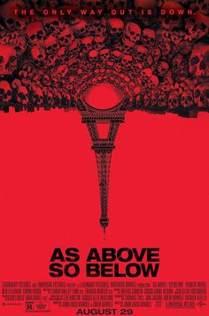 """""""As Above So Below""""> 2014 > Directed by: John Erick Dowdle > Horror / Mystery / Thriller I really liked it because it was strange and somewhat original. Best Horror Movies, Horror Movie Posters, Horror Films, Scary Movies, Great Movies, Terror Movies, Cinema Posters, Dwayne Johnson, Jack Black"""