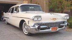 1958 Cadillac Fleetwood Series 75 Limousine. www.midnightrunlimo.com #personalchauffeur #privatedriver #orangecountylimo