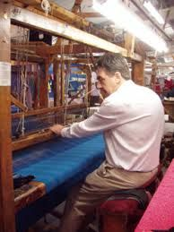 Fifth generation weaver, Dennis Mulhern, using a traditional wooden hand loom to weave Donegal Tweed Irish Hat, Fifth Generation, Weaving Textiles, Tweed Coat, Irish Traditions, Wooden Hand, Donegal, Loom, Weave