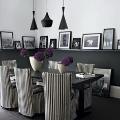 Black And White Dining Room Chairs Unique With Images Of Black And Decoration… Dining Room Images, Dining Room Design, Dining Room Chairs, Dining Area, Dining Table, Dining Decor, Small Dining, Kitchen Designs, Side Chairs