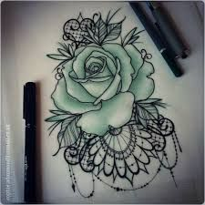 Bilderesultat for rose lace tattoo