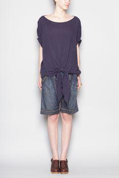 R13 box top, Black Crane shorts