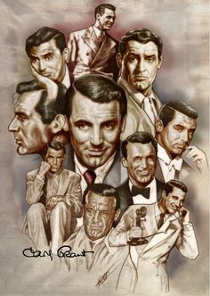 Cary Grant by NachoCastro on DeviantArt Classic Movie Stars, Classic Movies, Love Movie, Hollywood Icons, Classic Hollywood, Old Hollywood, Hollywood Stars, Cary Grant, Caricatures