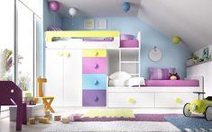 "Dormitorio juvenil con litera ""tren"" (237 – J22) - Muebles CASANOVA"