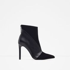 Image 1 of LEATHER HIGH HEEL ANKLE BOOTS from Zara