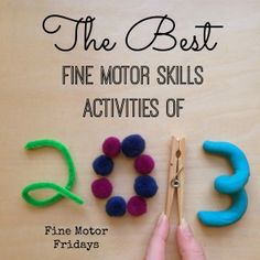 Link Up of the Top Fine Motor Activities from Around the Web from Lalymom