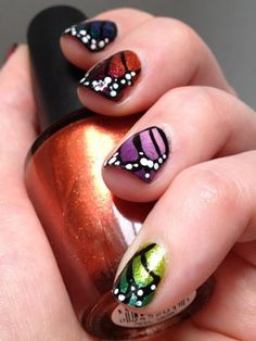 Butterflies wings on your nail