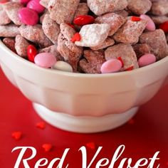 Red Velvet Puppy Chow - Your Cup of Cake