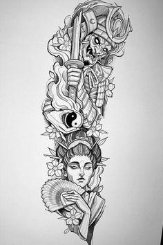 Japanese Tattoo Art, Japanese Tattoo Designs, Japanese Sleeve Tattoos, Japanese Tattoo Samurai, Japanese Forearm Tattoo, Japanese Tattoos For Men, Samurai Tattoo Sleeve, Forearm Sleeve Tattoos, Body Art Tattoos