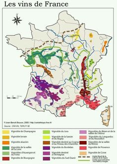 Wine regions of France - I've only toured through 5 of these regions... I have to get busy!