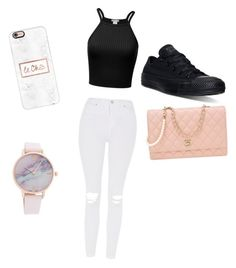 """""""School clothes"""" by jorjathompson on Polyvore featuring Converse, Topshop, Chanel and Casetify"""