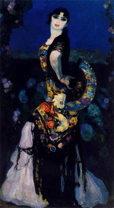 Hermenegildo Anglada Camarasa (Barcelona, 1871-1959) ~ Sevillana. 1911-12. Óleo sobre lienzo. 175 x 100 cm. Museo Nacional de Bellas artes. Buenos Aires. Argentina