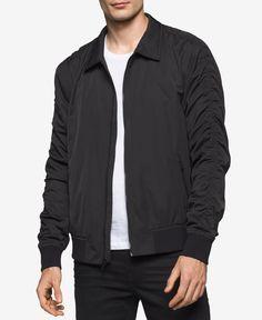 Calvin Klein Jeans Men's Back-Graphic Bomber Jacket
