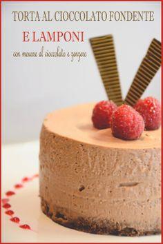 Torta al Cioccolato Fondente e Lamponi Mousse, Raspberry Cake, Gelato, Bakery, Cheesecake, Pudding, Sweets, Chocolate, Desserts