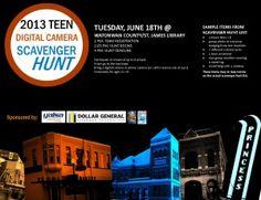 YA Programming Behind the Scenes: Digital Camera Scavenger Hunt For Teen Tech Week?