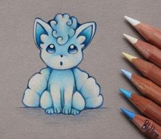 Alolan Vulpix by BluHiroo on DeviantArt