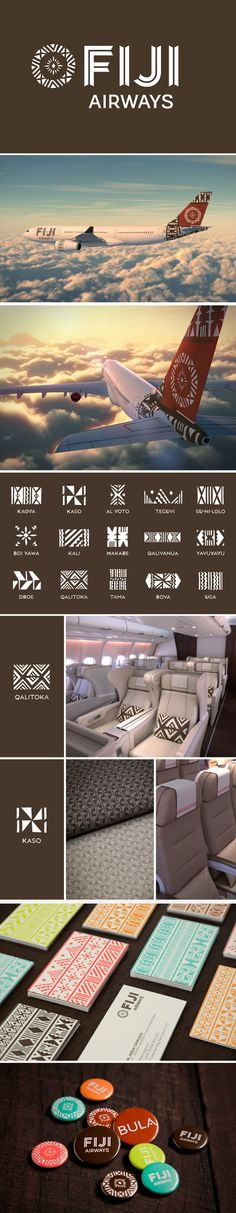 Love the pattern work on this Brand Identity / FIJI Airways