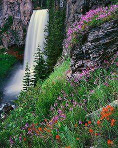 Tumalo Falls in Summer, Oregon